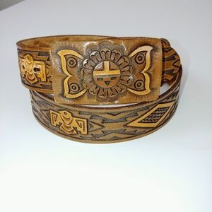 Vintage Southwest / Western Genuine Leather Belt